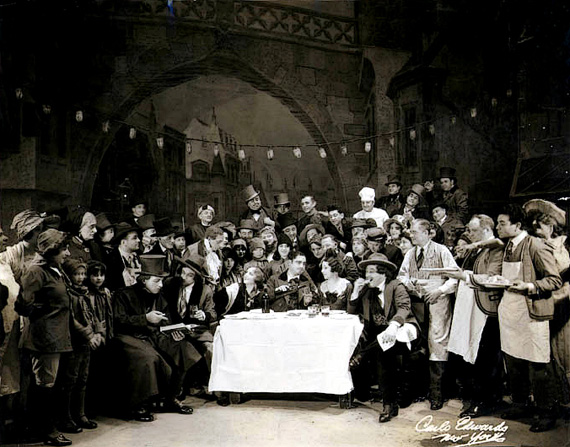 La Boheme - Act II at the Met in 1930 Enhanced2