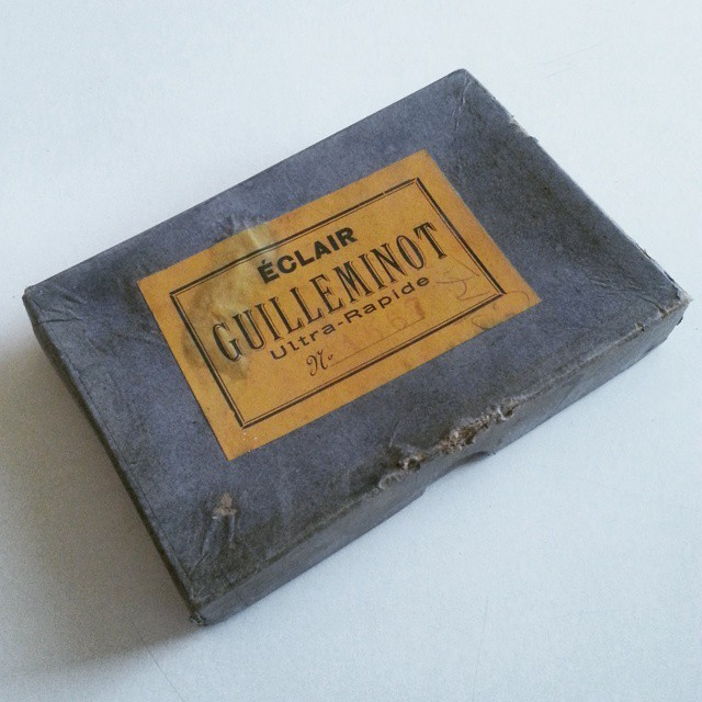 Glass plate negatives-box